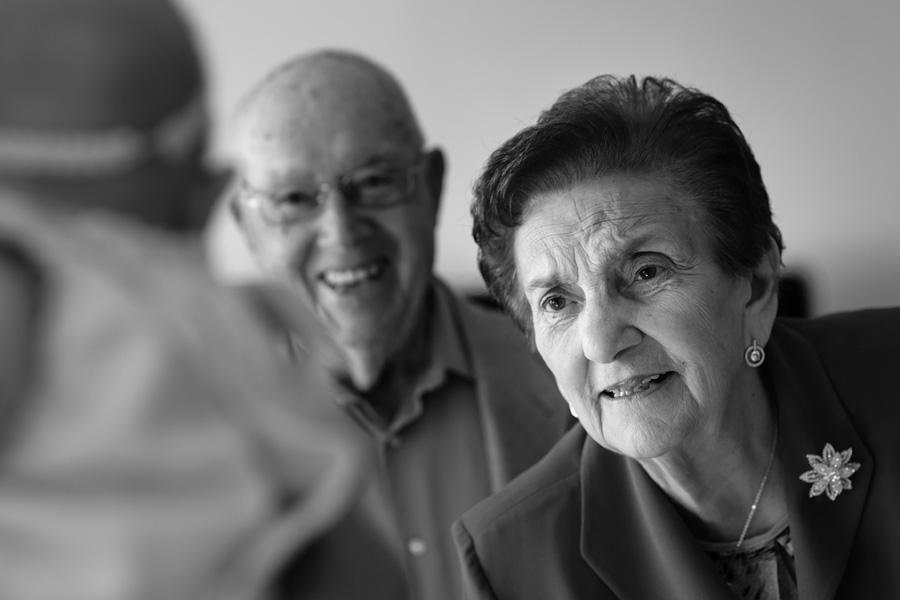 foto de los abuelos en un bautizo