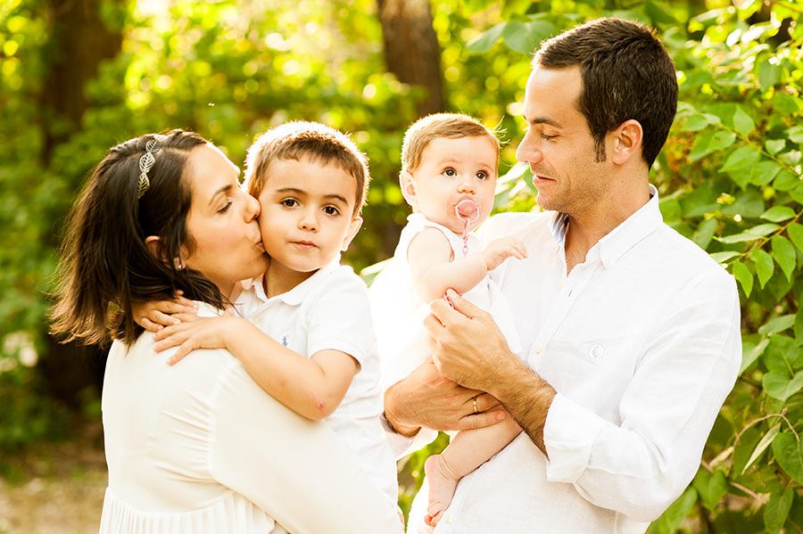Sesion de Fotos de familia en la Quinta de los Molinos