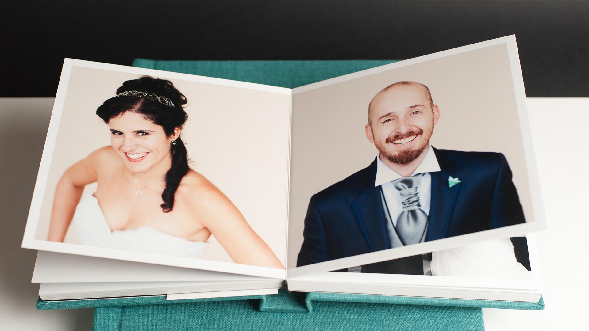 album de boda acabado aterciopelado retro collection