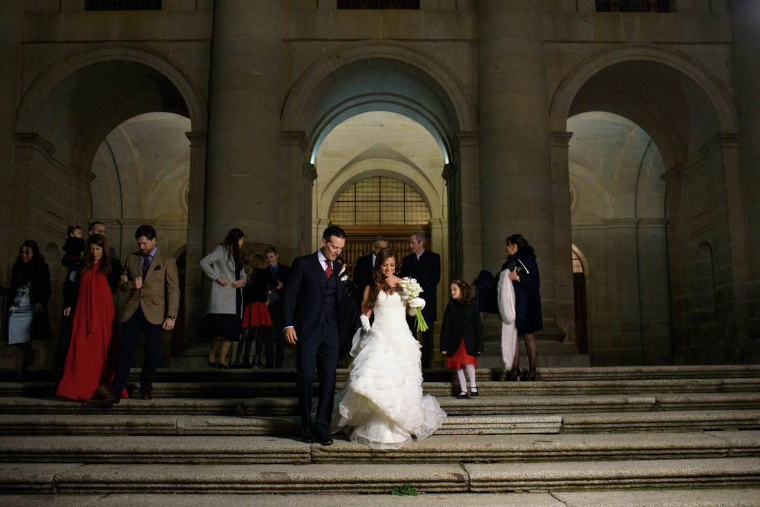 boda de invierno en el monasterio de el escorial