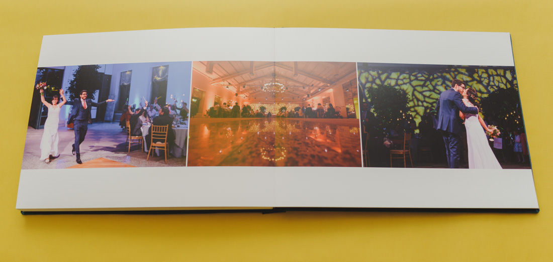 pliego de un album de fotos boda en la quinta del jarama
